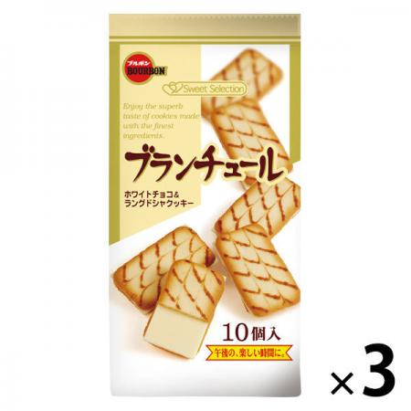 Bourbon White Chocolate 10 pieces Chocolate Candy x 3 [pantry]