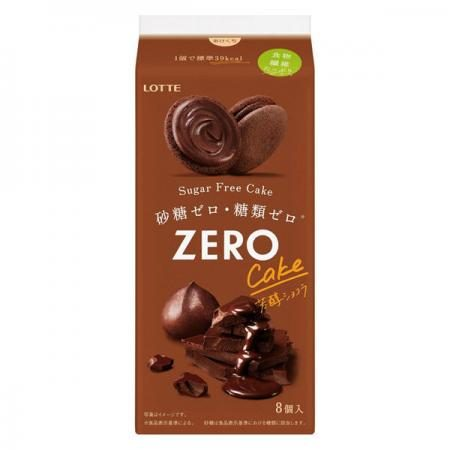 Lotte Zero Sugar Free Cake (Rich Chocolat) [pantry]
