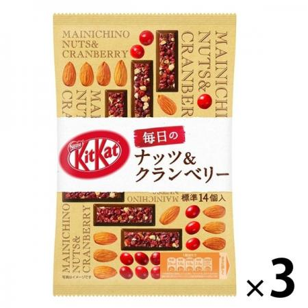 Nestle Japan KitKat Daily Nuts Cranberries 86.8g Chocolate x 3 [pantry]