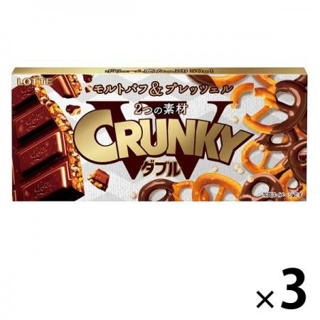 Lotte Cranky Double (Pretzel) Chocolate Sweets x 3 [pantry]