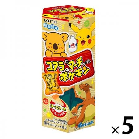 Lotte Koala and March with Pokemon (Cheesecake Momo Milk Style) Chocolate Sweets x 3 [pantry]