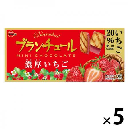Bourbon Blancture Mini Chocolate Rich Strawberry Chocolate Sweets x 5 [pantry]