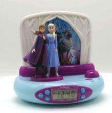 Anna and the Snow Queen 2 3D Alarm Clock Digital Alarm with Project Light Snooze Function