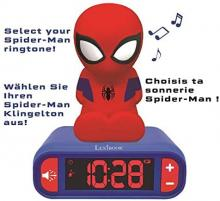 Spider-Man 3D alarm clock digital alarm snooze function with night light