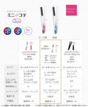Panasonic curling iron curl and straight for both overseas use 2Way pink tone EH-HV16-P