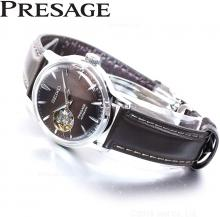 SEIKO PRESAGE Mechanical Automatic Winding Cocktail Series Box Type Hard Rex Stamping & Wrapping Dial SRRY037 Ladies Brown