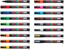 Mitsubishi Aqueous Pen Posca Small Character Round Core PC3M.21 Brown 10 Pcs
