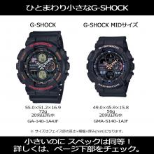 CASIO G-SHOCK mid size model GMA-S140-8AJR Men's