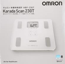 OMRON Weight/Body Composition Body Scan Smartphone App/OMRON connect compatible Shiny White HBF-230T-SW