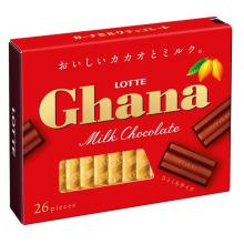 Lotte Ghana Milk Excellent Chocolate Sweets x 3 [pantry]